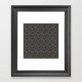 Gray Hematite Close-Up Crystal Framed Art Print
