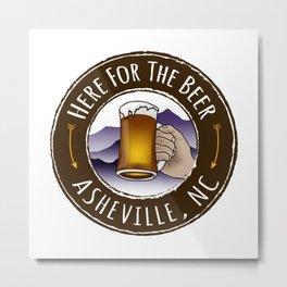 Asheville Beer - AVL 6 Full Color Metal Print