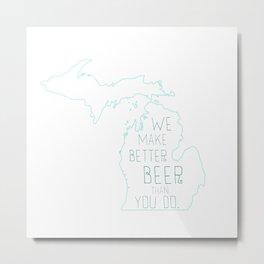 Michigan Beer Metal Print