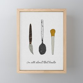 I'm All About That Baste, Humorous Quote Framed Mini Art Print