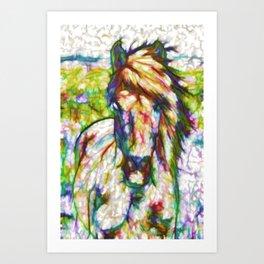 A beautiful brown horse  Art Print