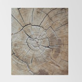 Tree rings of time Throw Blanket