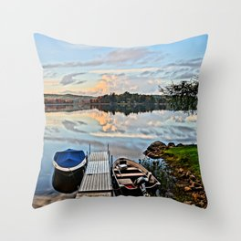 Another Day on the Lake Throw Pillow