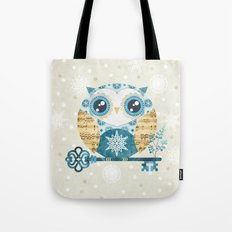 Winter Wonderland Owl Tote Bag