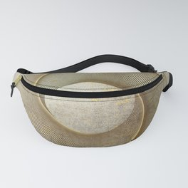 Geometrical Line Art Circle Distressed Gold Fanny Pack