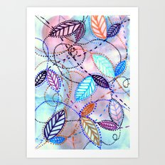 trajectories Art Print