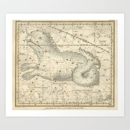 Alexander Jamieson - Celestial Atlas 1822 Plate 23 Cetus Art Print
