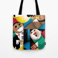 jazz Tote Bags featuring Jazz by Szoki