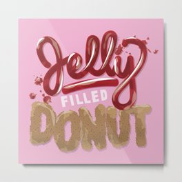 Jelly Filled Donuts Metal Print