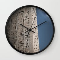 egyptian Wall Clocks featuring Egyptian Moon by Vin Zzep