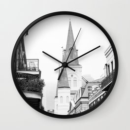 French Quarter Foggy Morning - New Orleans Wall Clock
