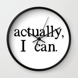 actually, i can. Wall Clock