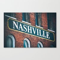 nashville Canvas Prints featuring Nashville by GF Fine Art Photography