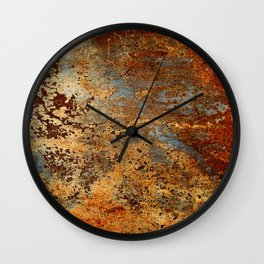 Beautiful Rust Wall Clock