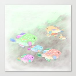 Families of Fish Canvas Print