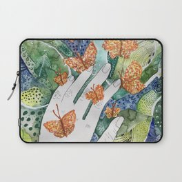 abstract whimsical nature art Laptop Sleeve