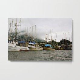 Boats Before a Storm Metal Print