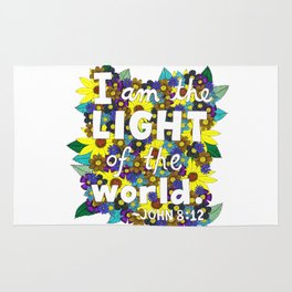 I Am The Light Of The World Rug