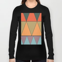 colorful triangles Long Sleeve T-shirt