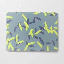 random trapezoids pattern_pigeon Metal Print