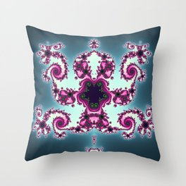 The Jumping Monkey Throw Pillow