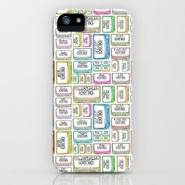 Tape Mix 1 Vintage Cassette Music Collection iPhone Case