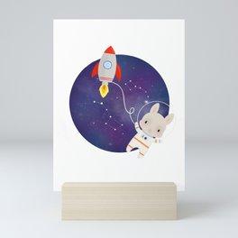 Space Bunny Mini Art Print