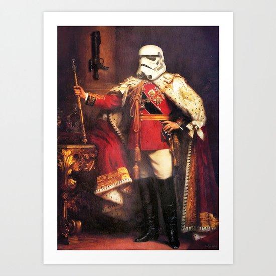 King Trooper Art Print