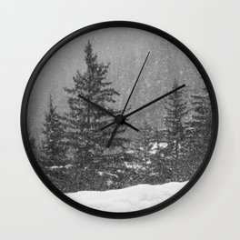 Alpine fir Wall Clock