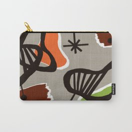Mid Century Art Backcloth Inspired Carry-All Pouch