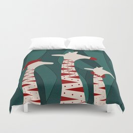 Giraffes Family Holiday Design Duvet Cover