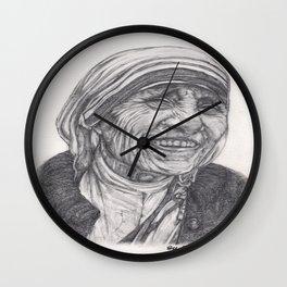 Mother Theresa Drawing Wall Clock