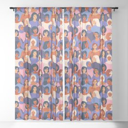 We are Women. We can do it! Sheer Curtain