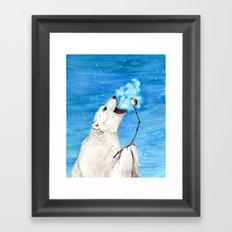 Polar Bear with Toasted Marshmallow Framed Art Print
