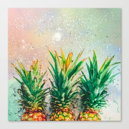 Party Pineapple Canvas Print