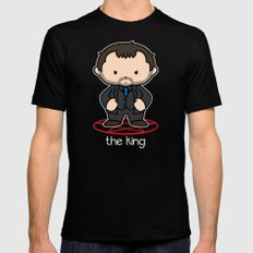 The King  MEDIUM Mens Fitted Tee Black
