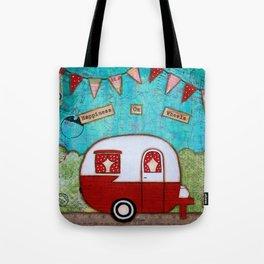 Vintage Camper Red Tote Bag