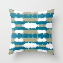 Color Splash Aqua Throw Pillow