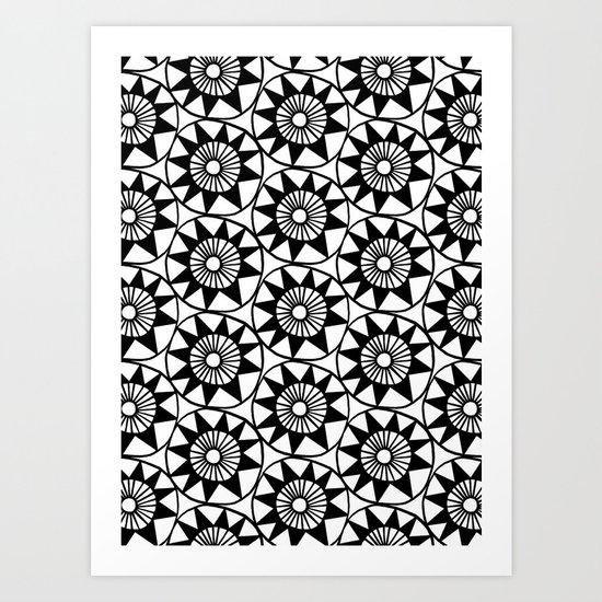Playful circles Art Print