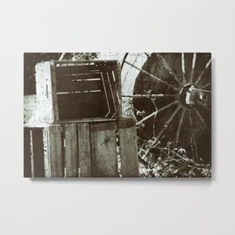 Vintage Farm Equipment Rustic Creates Metal Print