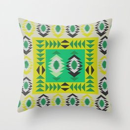 Fresh ethnic decor Throw Pillow