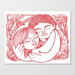 LOVE THREE Canvas Print