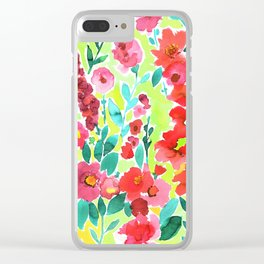 Isla Floral Yellow Clear iPhone Case