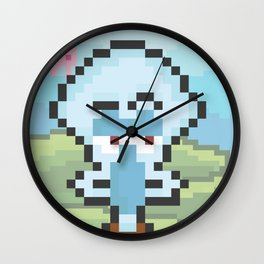 Squidward Pixels Wall Clock
