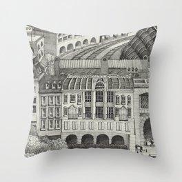 Retiro Train Station 1993 Throw Pillow