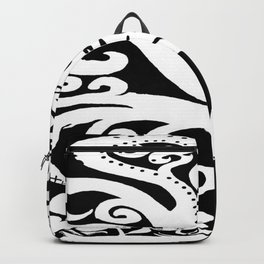 Twisting and Twirling Tree in Black and White Backpack