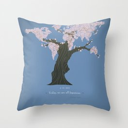 Today, we are all Japanese Throw Pillow