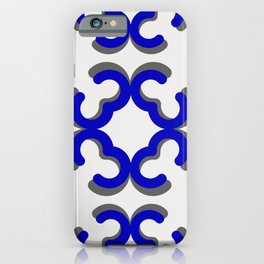 Mid Century Modern Minimal Ornaments iPhone Case