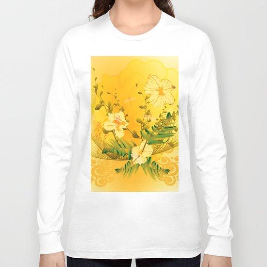 Wonderful soft yellow flowers Long Sleeve T-shirt