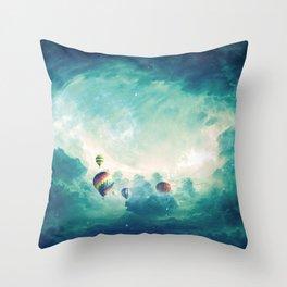 Hot air ballons Throw Pillow